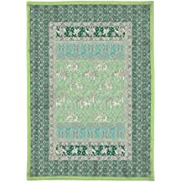 Bassetti Granfoulard.- Colcha copriletto Jasmine V2 verde para cama de 90, en medida 180 x 255 cm
