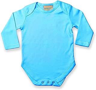 0-3 mesi Body per Neonato 100/% Cotone Larkwood Blu chiaro