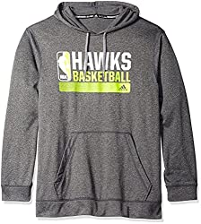 NBA Atlanta Hawks Icon Status Climawarm Ultimate Hoodie, Large, Black