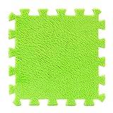 Kingko 6 Pc EVA Eco Puzzle Teppich Mosaik Fliese Wohnzimmer Kissen Nachttisch Teppich Umwelt Puzzle Teppich (Grün)