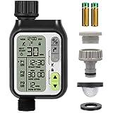 Johgee Irrigatie Automatische Irrigatiesystemen, 3 Onafhankelijke Irrigatie Programma, Waterdicht, Groot LCD-Scherm, 2 AA-bat