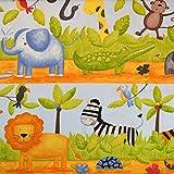 MAGAM-Stoffe ''Große Safari'' Baumwoll-Stoff aus 100% Baumwolle | Kinder-Stoff | Meterware ab 25cm | OX-1-4