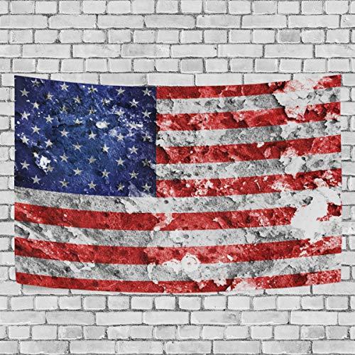 Amerika Wandteppiche (JSTEL Amerika-Flagge, Wandbehang Dekoration für Wohnzimmer, Wohnzimmer, Tisch, Überwurf, Tagesdecke, Wohnheim, 100 x 150 cm, Multi, 100 x 150 cm)