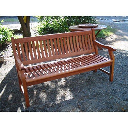 New Jersey Gartenbank / Balkonbank / Sitzbank 2-Sitzer aus Eukalyptus