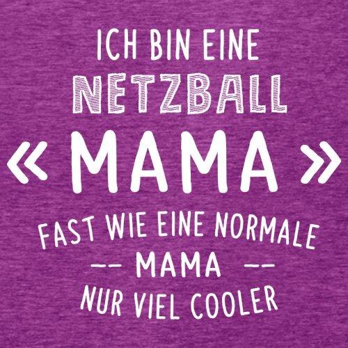 Ich bin eine Netzball Mama - Damen T-Shirt - 14 Farben Beere