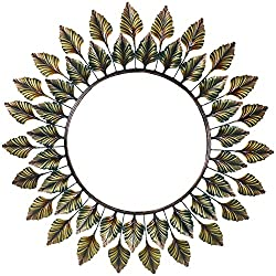 Wall hanging mirror Leaf Designed By Malik Designs - (86 cm x 86 cm x 6 cm)