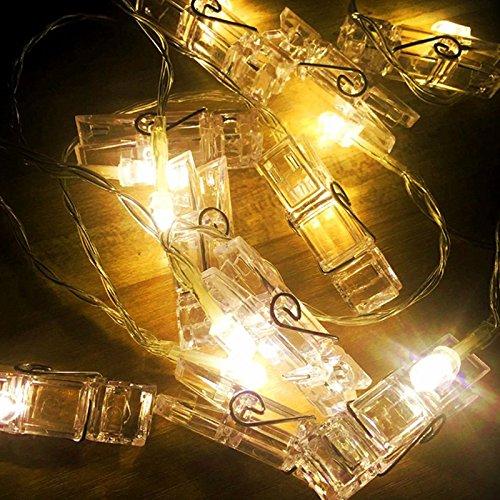 10 20 LED Foto Clip LED Lichterketten Girlanden Batterie Fee Urlaub Lichter DIY Dekoration Benutzerdefinierte für Haus Hochzeit