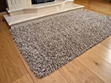 Soft Touch Shaggy Mocha Thick Luxurious Soft 5cm Dense Pile Rug. Available in 7 Sizes (66cm x 120cm)