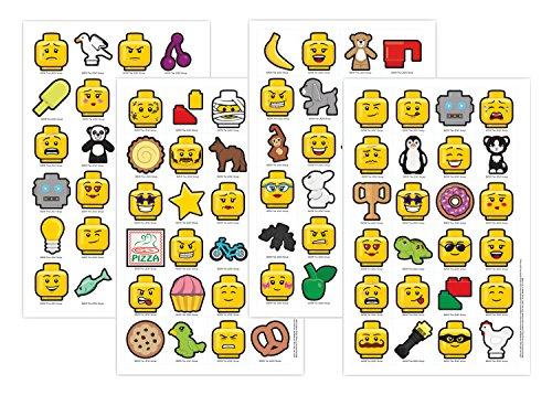 LEGO 90403Iconic 4Feuilles avec 96Autocollants