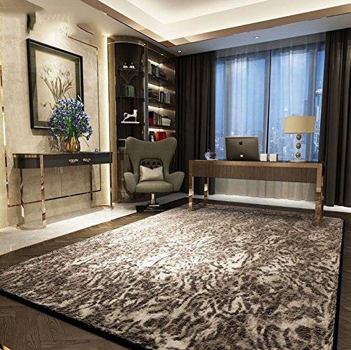 Creativa personalidad viviente tendencia alfombra de la sala de la moderna alfombra del dormitorio sala de estar leopardo negro ( Tamaño : 0.7*2m )