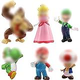 WENTS Figures 6pcs / Set Toys Figuras de y Luigi Figuras de acción de Yoshi y Bros Figuras de Juguete de PVC