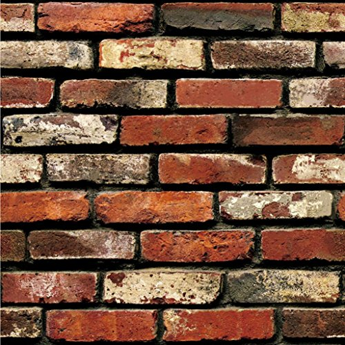 wandaufkleber wandtattoos Ronamick 3D Tapeten Ziegel Stein rustikale Wirkung selbstklebende Wand Aufkleber Home Decor Wandtattoo Wandaufkleber Sticker Wanddeko (Multicolor) Ziegel-wand-aufkleber