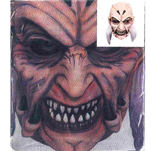 Accessoryo - Horror Kobold Druckkopf volles Gesicht Halloween-Maske (Kostüme Herr Erwachsene Kobold)