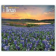 Texas - Wild & Scenic 2018 - 18-Monatskalender mit freier TravelDays-App: Original BrownTrout-Kalender - Deluxe [Mehrsprachig] [Kalender] (Deluxe-Kalender)