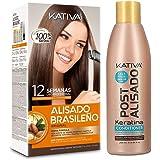KATIVA Pack Ahorro Kativa Alisado Brasileño + Acondicionador Post Alisado - Tratamiento Profesional En Casa - Hasta 12 Semana