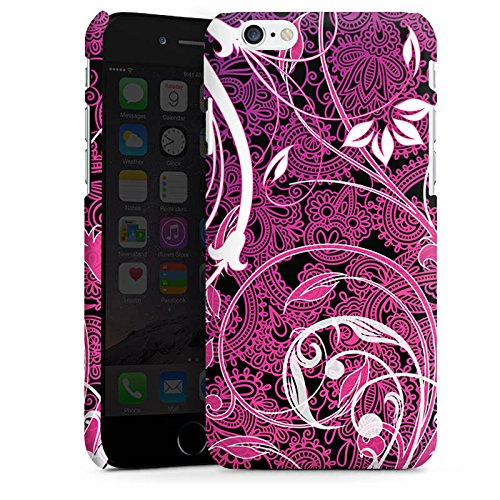 Apple iPhone X Silikon Hülle Case Schutzhülle Floral Ornament Blumen Premium Case matt