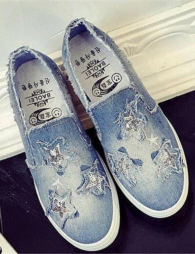 Zq us7 5 blau outddor flacher Cn38 komfort Lssig Sportlich Jeans Eu38 Dark Uk5 Gyht Damenschuhe Absatz halbschuhe denim Blue 5 rZ4pr6nq