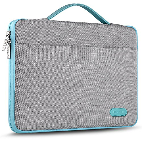 HSEOK 13-13,3 Pulgadas Macbook Air Maletin Portatil Funda Protectora para 13-14 Pulgadas Laptop Ultrabook Netbook, iPad Pro, Surface Book, ThinkPad, DELL Inspiron, HP EliteBook, ASUS y más, Gris