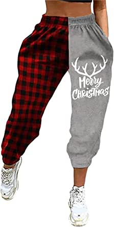 iClosam Damen Baumwolle Schlafanzughose Pyjamahose Nachtw/äsche Hose Lang Sleep Hose Pants Kariert