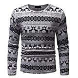Herren Strickpullover,TWBB Warme Weihnachten Drucken Pullover Coat Mantel Outwear Lange Ärmel Hemd