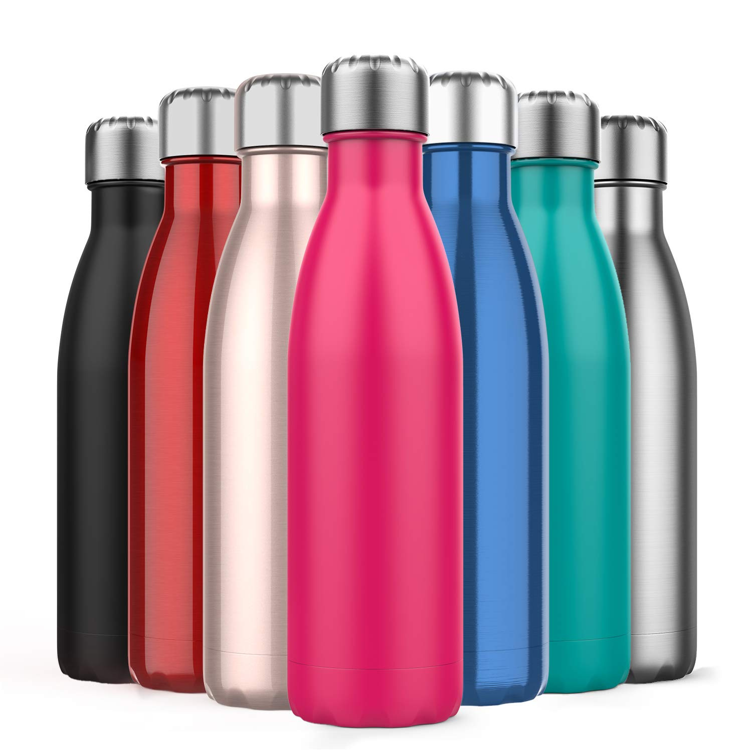 350//500ml Stainless Steel Flask Insulated Vacuum Thermos Camping Hiking Hot Cold