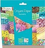 Decopatch - 52501MD - Avenue Mandarine - Origami Paper Géométrique - 20 x 20 cm - 60 Feuilles - 70 g