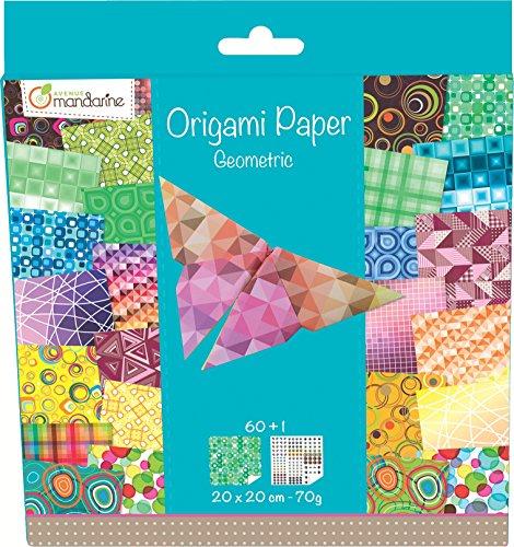 Avenue Mandarine 52501MD - Origamipap geom 20 x 20 cm, 60 Bl, 70 g