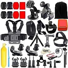 Iextreme Kit de accesorios 45-en-1 para cámara deportiva GoPro Hero 5 4 3 + 3 2 1, Xiaomi Yi, SJ4000 SJ5000 SJ6000,WiMiUS , DBPOWER, Cámara de acción APEMAN,Action Camera Campark