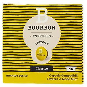 Bourbon Espresso Capsule Classico - 8 Confezioni da 16 capsule [128 Capsule]