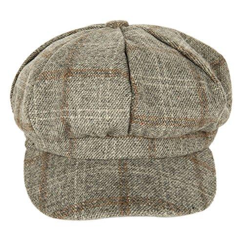 Wingbind Männer Winter Mütze Hüte Flache Kappe Ivy Gatsby Zeitungsjagd Hut Tweed Kappe Achteckige Kappe Hut Tweed Ivy Hat