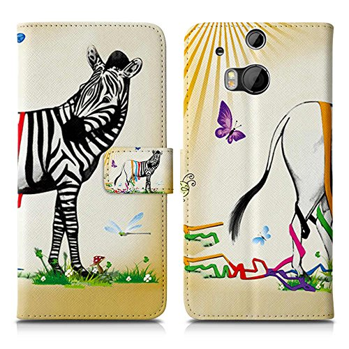 Apple iPhone 5 / 5s Handyhülle inklusive Displayfolie Keep Calm Carry ON buntes Zebra