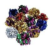 Demiawaking 12Pcs Colorful Cat Toys Crinkle Balls Rustle - Best Reviews Guide