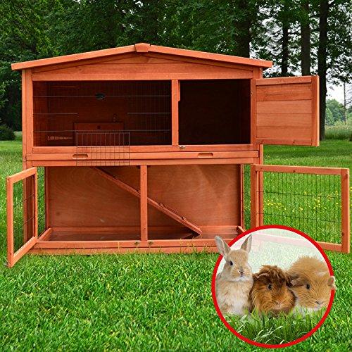 Zooprimus Kaninchenstall 21 Hasenkäfig – HASENHAUS-XL – Stall für Außenbereich (GRÖßE: (XL)   für Kleintiere: Hasen, Kaninchen, Meerschweinchen usw.) - 2