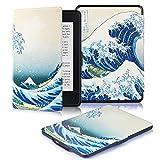 DHZ Kindle Paperwhite Custodia - Case Cover Custodia Amazon Nuovo Kindle Paperwhite 1/2/3 Adatto Tutte le versioni: 2012, 2013, 2014, 2015,2016 Nuovo 300 ppi),Onde enormi