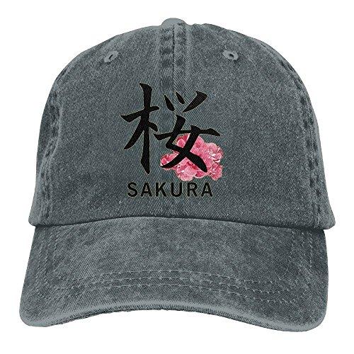 Sakura Kanji Adult Sport Adjustable Baseball Cap Cowboy Hat ()