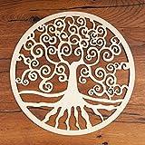 Baum des Lebens Holz Wand Dekoration Ø 30 cm 1 St | Wandschmuck Lebensbaum Yggrasil Tree of Life Symbol Birkenholz | Esoterik Geschenke Deko günstig kaufen