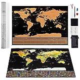 Scratch off Mapa del mundo por Leto TG–Rastreador - Best Reviews Guide
