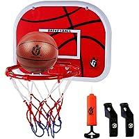 Dreamon Canestro Basket Bambini da Camera Ufficio Porte Interne Cesta Porta Giocattoli Sportivi per Bambino