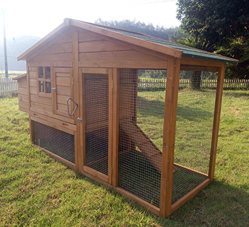 """Zoopplier Hühnerstall Hühnerhaus Chickenhouse Nr. 08\""""Schickchick mit Eierbox und Freilauf"""