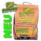 Grillmais 3 Kg Maiskohle 100% Natur 100% nachhaltig Bio Grillen bis 800C°