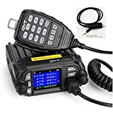 QYT KT-8900D Dual Band Quad-Standby Mini Mobile Transceiver Two-Way Radios Amateur Car Radio with Extra Speaker with Free Programming Cable