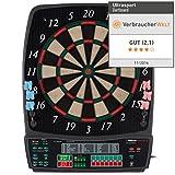 UItrasport Dartboard elektronisch, Classic Dartboard für 8 Spieler, 28 Spiele, 167 Varianten / elektronische Dartscheibe inklusive 12 Softpfeile, Dartspiel mit LED-Anzeige - 2