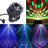 LED Lámpara ,Mini bola mágica de la etapa,Lámpara de luz de escenario,Lámpara de voz activada por sonido RGB,KTV bar Fiesta (Clase Eficiencia Energética A +)