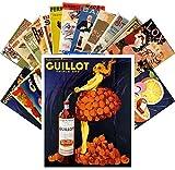Postkarten Set 24pcs Liqueur Aperitif Vintage Alcohol Ads Poster Art Deco