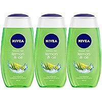 Nivea Lemon and Oil Shower Gel, 250ml (Pack of 3)