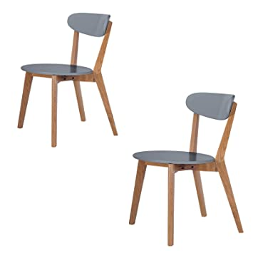 scandinavian wooden furniture. scandinavian retro white dining table and chairs with solid oak legs grey set of 2 amazoncouk kitchen u0026 home wooden furniture u