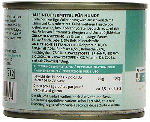 Rinti Hundefutter Sensible Lamm & Reis 185 g, 12er Pack (12 x 185 g) - 3