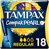 Tampax Compak Pearl Regular Tampones con Aplicador - 18 unidades