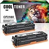 Cool Toner 2 Pack Kompatibel Toner für CF210X (131X) für HP Laserjet Pro 200 Color M251n M251nw, MFP M276n M276nw, Schwarz, 2400 Seiten