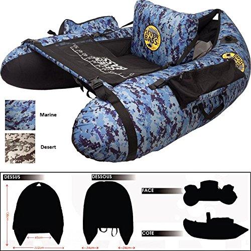Belly Boat Seven Bass One Blau